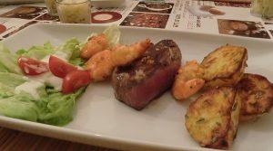 Rinderfilet mit Spinat Parmesan Champignons und Bacon Butter 26