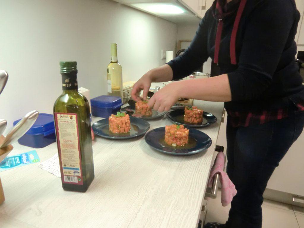 Salsa von der Papaya mit kurz gebratenem Rinderfilet 4