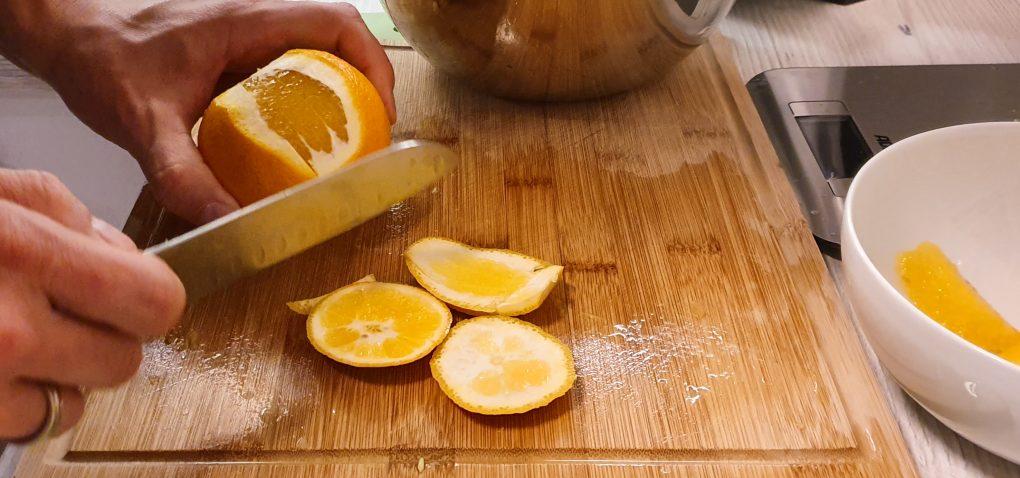 Erdbeereis auf Orangenfilets mit Tonkabohnen-Zabaglione 1
