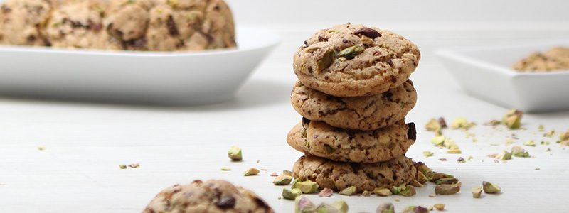 Salzige Pistazien-Schoko Cookies 1