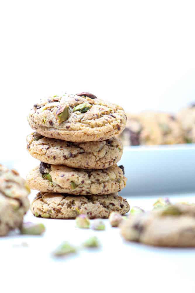 Salzige Pistazien-Schoko Cookies 2