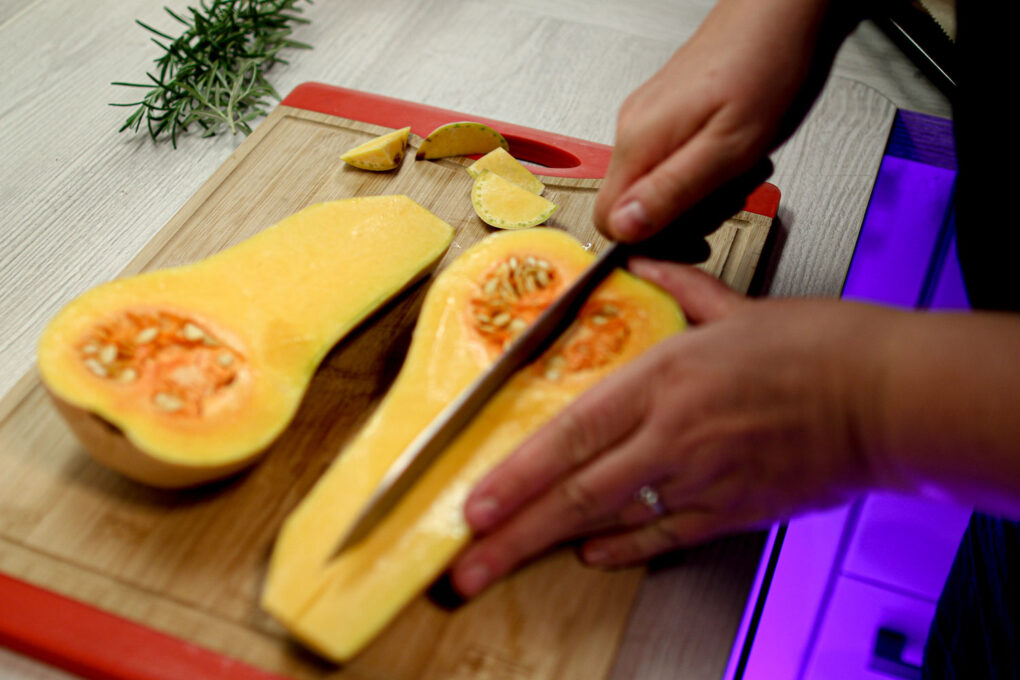 Gerösteter Butternutkürbis mit Parmaschinken und Pecorino 2